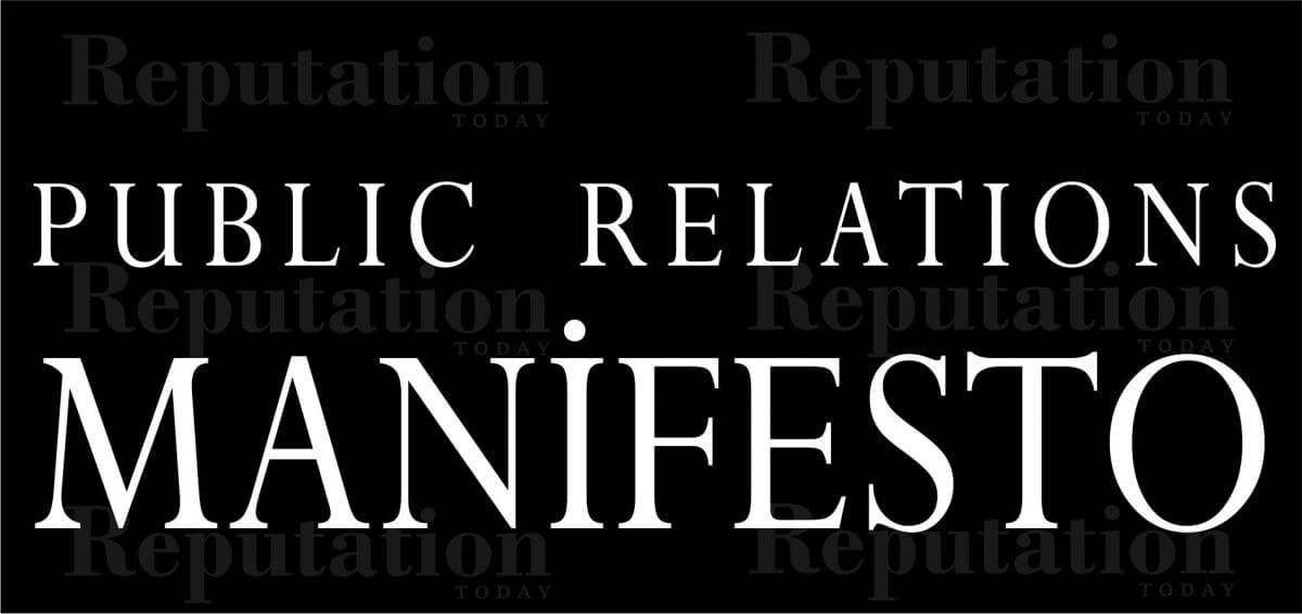 The Public Relations Manifesto