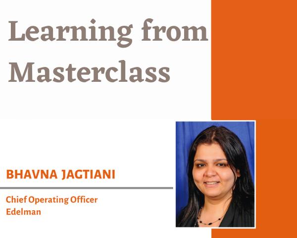 Masterclass with Bhavna Jagtiani