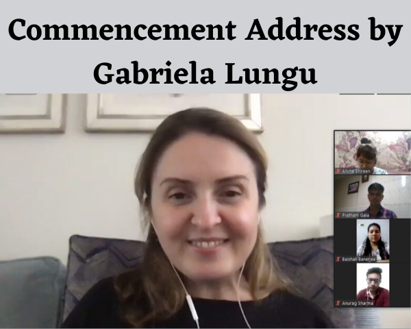 Commencement Address by Gabriela Lungu